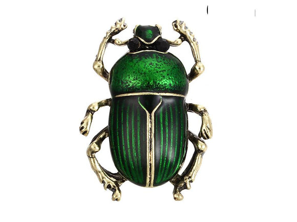 BEETLE BROOCH | GREEN