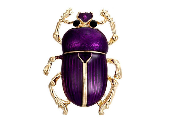 BEETLE BROOCH | PURPLE