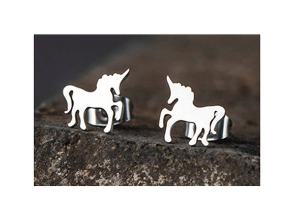 Magical Unicorn Stainless Steel Post Earrings - Lunga Vita Designs