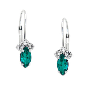 PETITE RHINESTONE AND CRYSTAL LEVERBACK - EMERALD