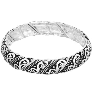 FILIGREE STRETCH BRACELET | SILVER