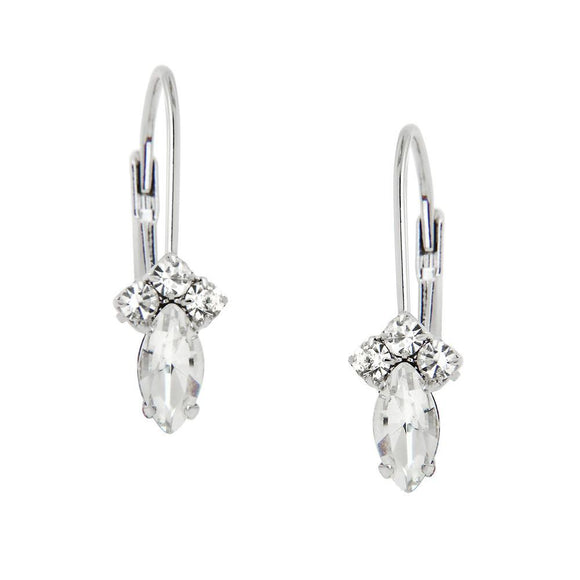 PETITE RHINESTONE AND CRYSTAL LEVERBACK - CLEAR