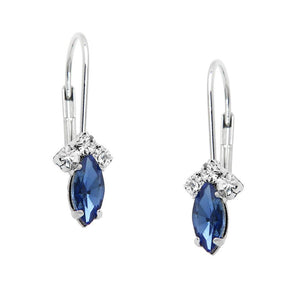 PETITE RHINESTONE AND CRYSTAL LEVERBACK - SAPPHIRE