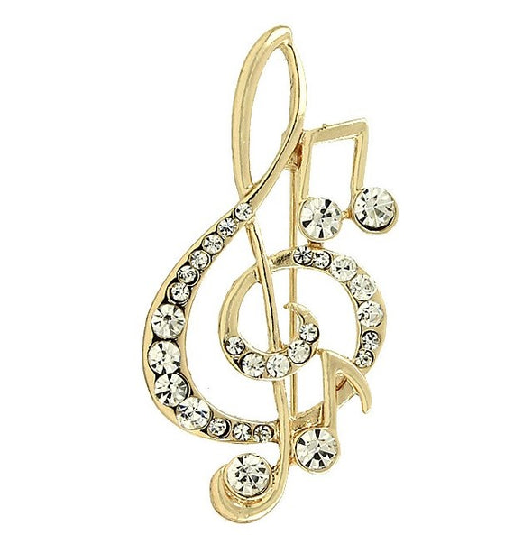 TREBLE CLEF PIN | GOLD