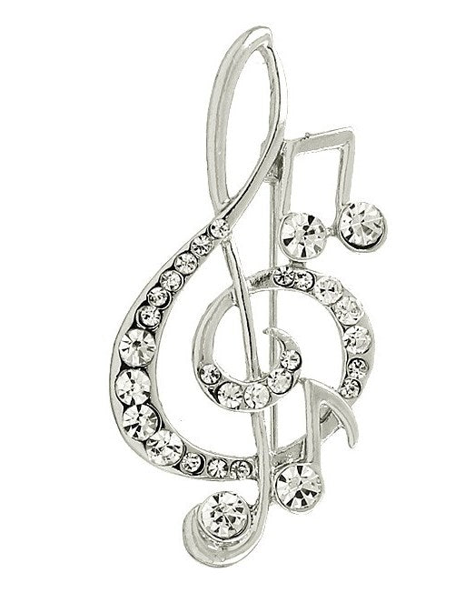 TREBLE CLEF PIN | SILVER
