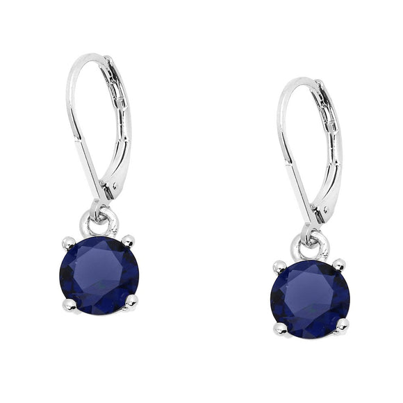 BASIC ESSENTIAL TOUCH OF COLOR LEVERBACK EARRING  | BLUE