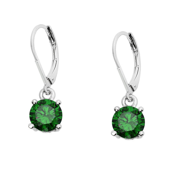 BASIC ESSENTIAL TOUCH OF COLOR LEVERBACK EARRING  | GREEN