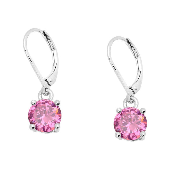 BASIC ESSENTIAL TOUCH OF COLOR LEVERBACK EARRING  | PINK