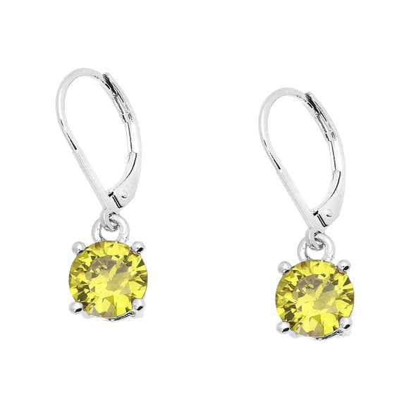 BASIC ESSENTIAL TOUCH OF COLOR LEVERBACK EARRING  | YELLOW