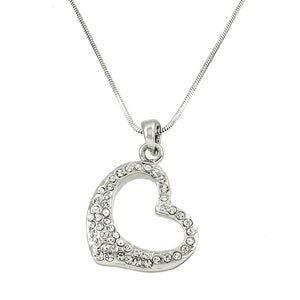 "SMALL ""BLING"" HEART NECKLACE"
