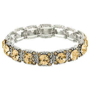 CRYSTAL STRETCH BRACELET - LIGHT CITRINE