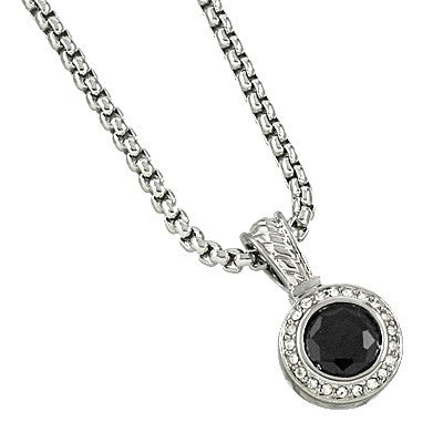 CUBIC ZIRCONIA DESIGNER NECKLACE | BLACK