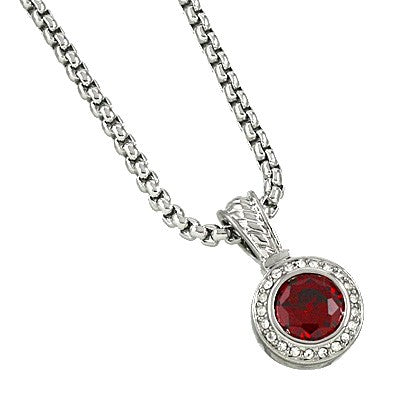 CUBIC ZIRCONIA DESIGNER NECKLACE | RED
