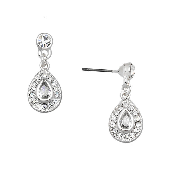 PETITE SILVER TEARDROP EARRINGS