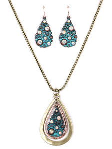 PATINA TEARDROP NECKLACE SET