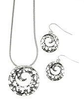 FILIGREE SILVER TONE SWIRL SET