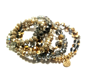 BEADED STACK BRACELET SET | COCOA