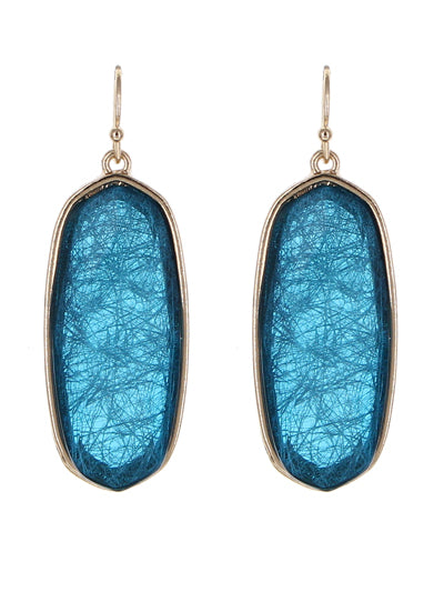 Oval Resin Earrings | Opaque Aqua - Lunga Vita Designs