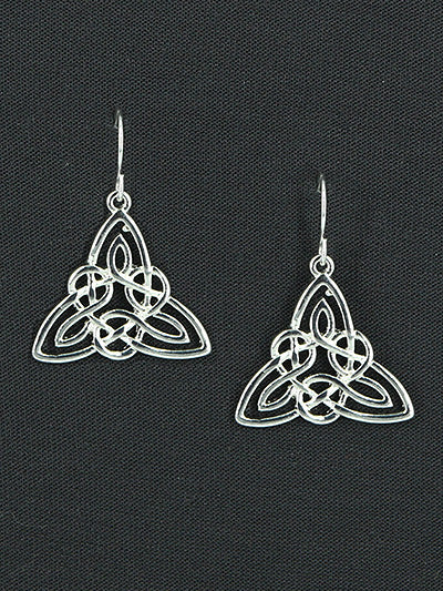 Celtic Triangular Dangle Earrings - Lunga Vita Designs