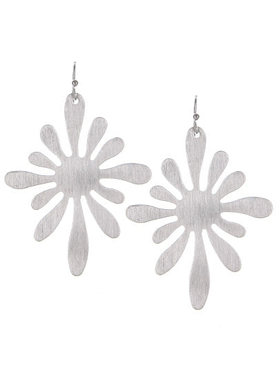 Sun Splash Dangle Earrings | Matte Silver - Lunga Vita Designs