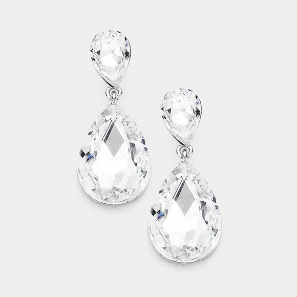 CLASSIC TEARDROP CLIP-ON EARRINGS