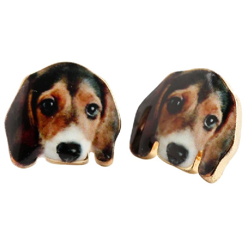 Beagle Post Earrings - Lunga Vita Designs