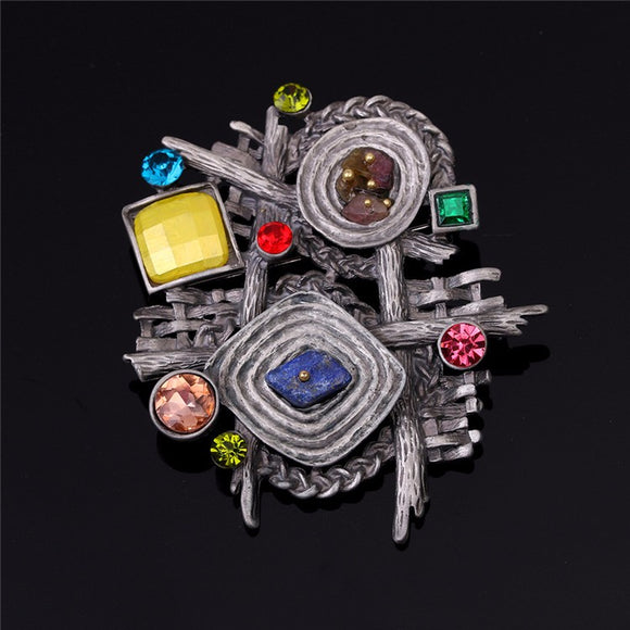 COLORFUL ABSTRACT BROOCH