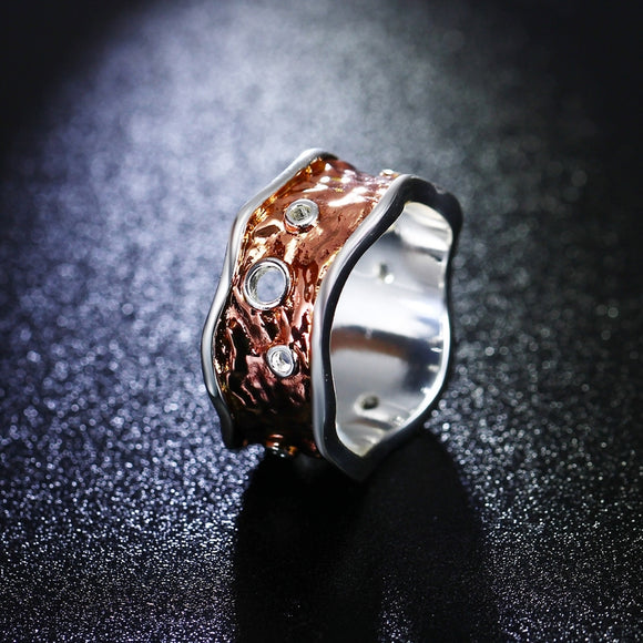 ROSE GOLD FREE FORM PLATED RING