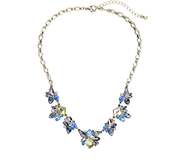 VINTAGE CRYSTAL MULTICOLORED NECKLACE