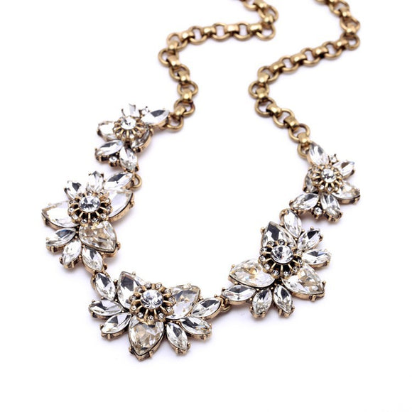 ANTIQUED GOLD STATEMENT NECKLACE