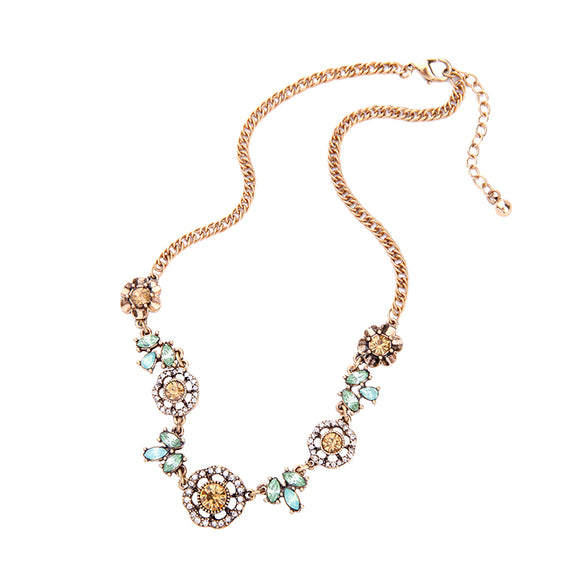 VINTAGE MIXED GEM NECKLACE