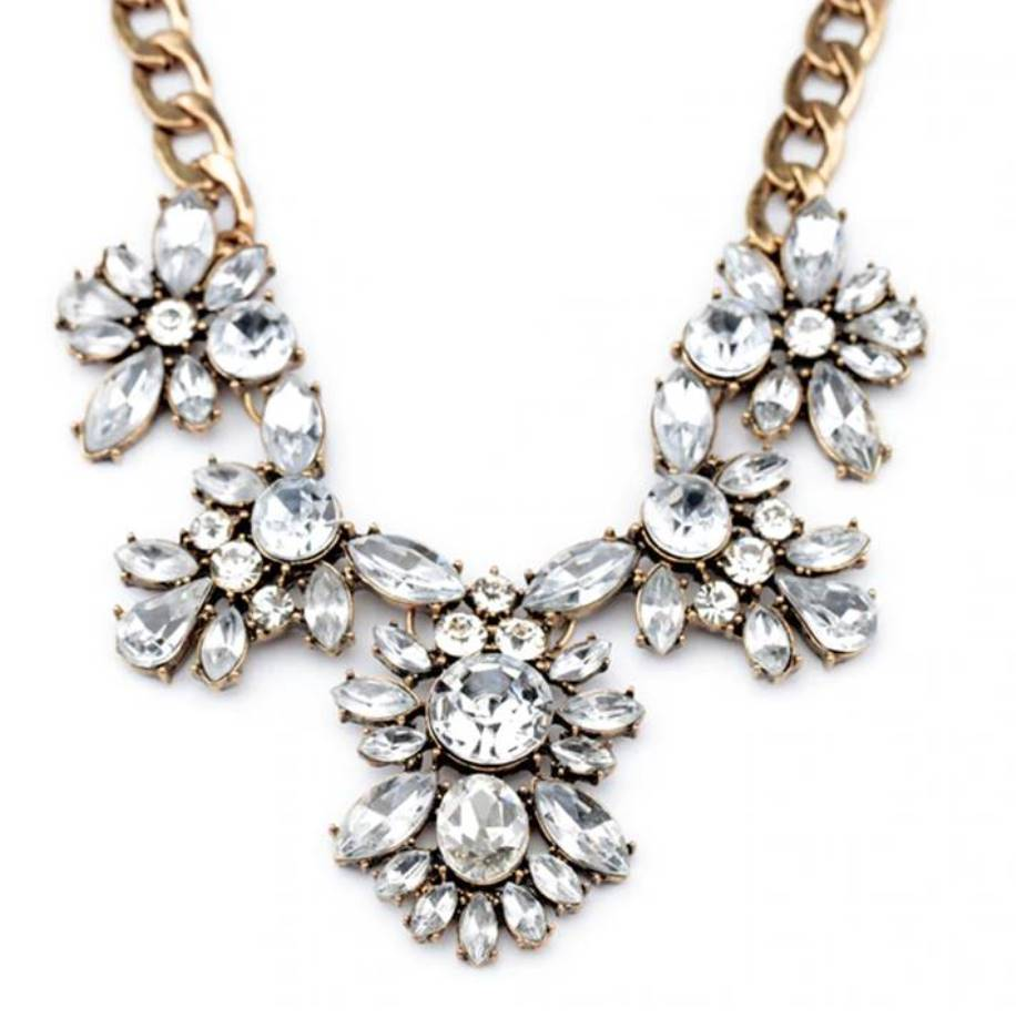Glamourous Chunky Crystal Statement Necklace - Lunga Vita Designs