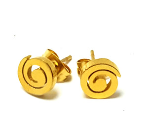 SWIRL POST EARRINGS