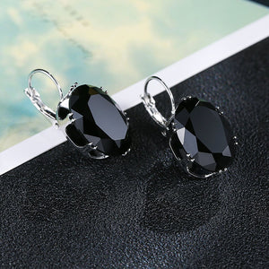 PERFECT DRESSY ACCENT EARRINGS | BLACK CRYSTAL