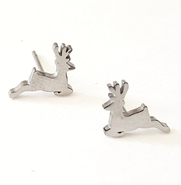 FLYING REINDEER POST EARRINGS