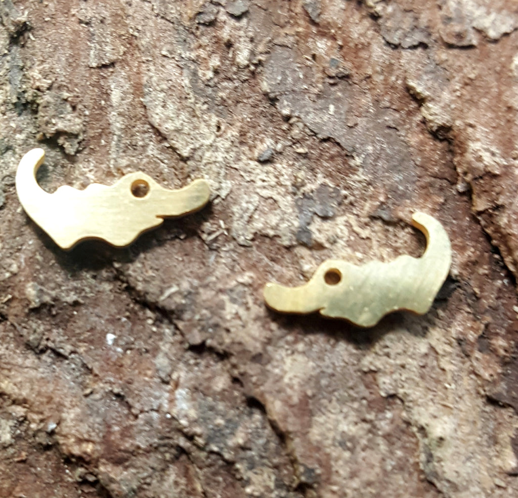 Crocodile Stainless Steel Post Earrings | Gold Plated - Lunga Vita Designs