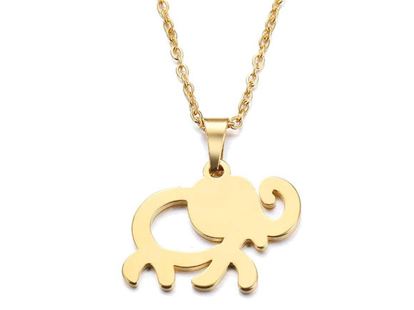 LUCKY ELEPHANT NECKLACE | GOLD