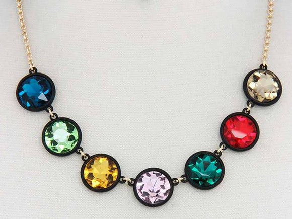 FACETED ROUND CRYSTAL | MULTICOLORED