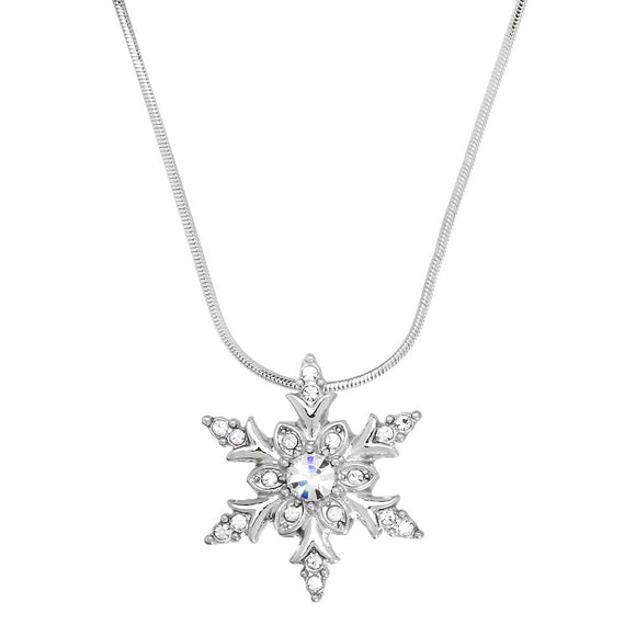 SNOWFLAKE NECKLACE | CLEAR CRYSTAL