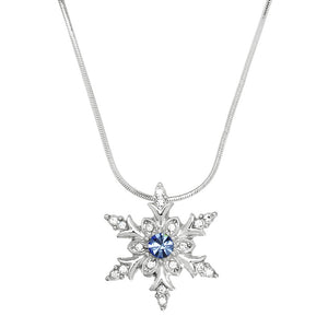 SNOWFLAKE NECKLACE | BLUE CRYSTAL