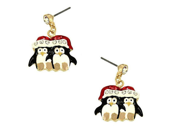 PENGUIN DUO DANGLE EARRINGS