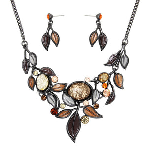 FALL COLORS NECKLACE SET | AMBER