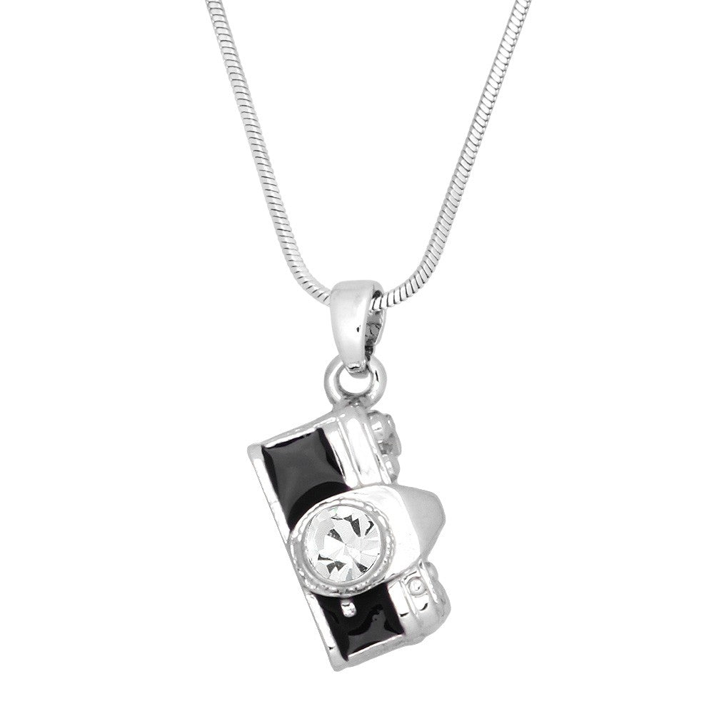 Camera Pendant Necklace - Lunga Vita Designs
