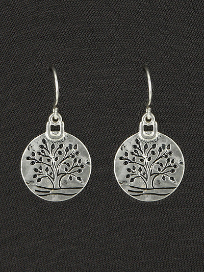 Tree Of Life Small Silver Dangle Earrings | As Delicate as Life Itself.... - Lunga Vita Designs