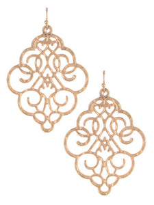 LACE CUT-OUT EARRINGS | GOLD