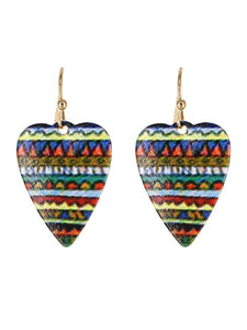 PAINTED HEART EARRINGS