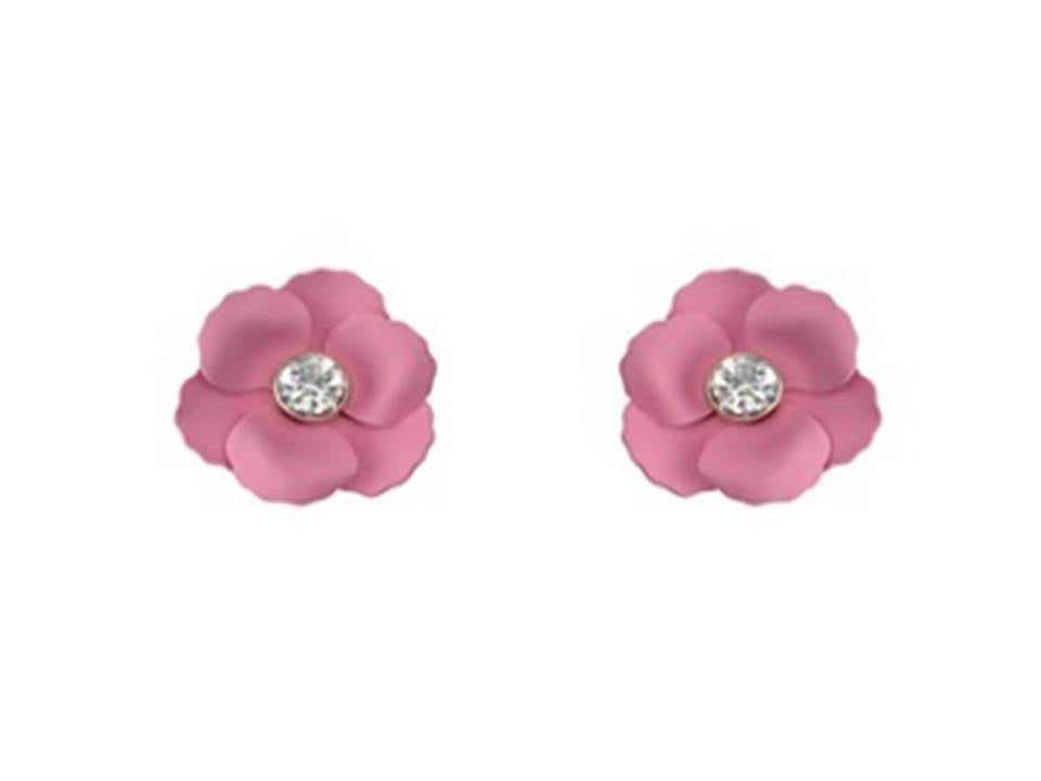 Matte Flower Post Earrings | Light Rose - Lunga Vita Designs