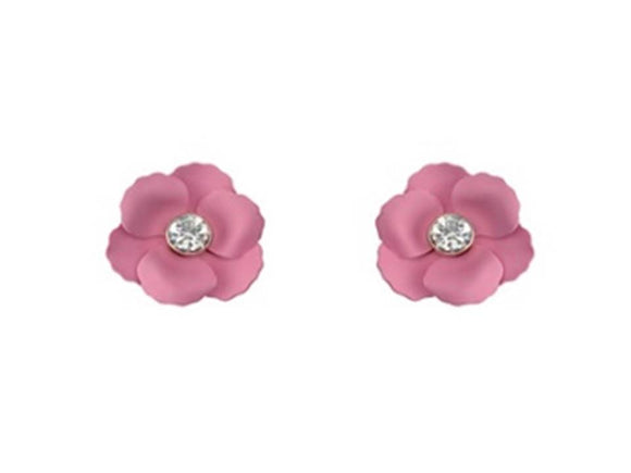 MATTE FLOWER POST EARRINGS | LIGHT ROSE