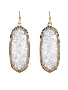 Oval Resin Earrings | Opaque White - Lunga Vita Designs
