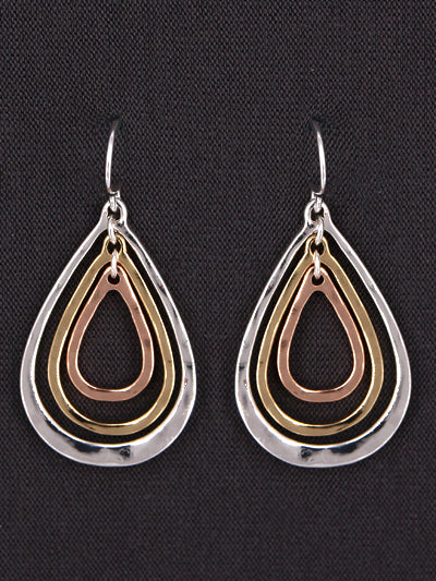 SMALL MULTICOLORED TEARDROP DANGLE EARRINGS - Lunga Vita Designs